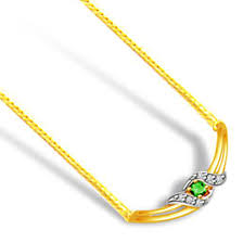 green paradise 0 18ct diamond emerald gold necklace 2 tone necklace pendants chain