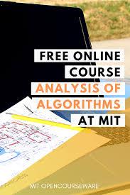 Design And Analysis Of Algorithms Mit Design And Analysis Of Algorithms Free Course Materials