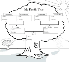Family Tree Coloring Page Iamdriver Info