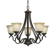 portfolio danrich marina 5 light black bronze w red chandelier