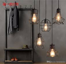 ing american style lamps and lanterns industry wind restoring ancient ways of creative restaurant bar cage lamp loft single head wrought pendant light