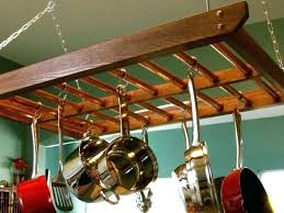 wooden pot rack plans hanging ideas ceiling wall hanger best wood homemade