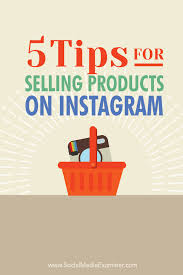 tips for selling on insram