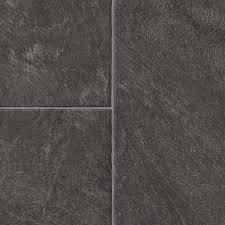 style selections glentanner slate 12 83 in w x 4 27 ft l embossed tile look laminate flooring