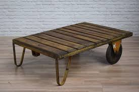 large vintage industrial cart trolley coffee table 10 available