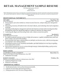 Sample Resume For Retail Manager Retail Manager Resume Objective Retail Store Supervisor Resume Free 80