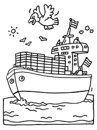 Kleurplaat Cruise Schip Kleurplatennl