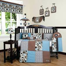 brown baby bedding sets blue brown scribbles piece crib bedding set brown baby bedding crib sets