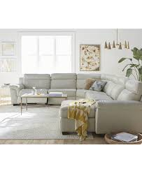 Versace Living Room Furniture Julius Leather Power Reclining Sectional Sofa Collection