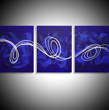 Canvas Art Large Canvas Art Deep Blue Big Canvas Abstract Art For Sale
