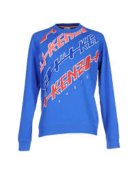 Sweatshirts With Quotes Custom Kenzo Logo Meaning KENZO Sweatshirt Bright Blue Men Jumpers And