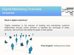 Digital Marketing Overview Ppt Video Online Download