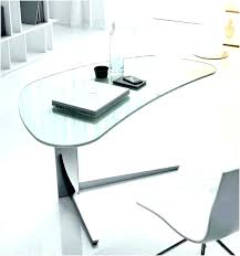 small glass computer desk clear curved modern home furniture in canada table