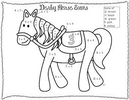 Addition Coloring Pages Color By Number Worksheets Addition ...