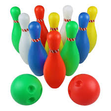 skittles bowling set toy outdoor indoor 10 bowling pins game with 2 for kids aged 3 4 5 6 7 8 large size by l t for toys in australia