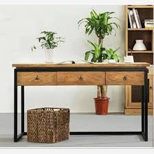 american country wrought iron vintage desk. Get Quotations · American Country Wrought Iron Vintage Wood Desk Computer With Drawers Bedroom Room Work O
