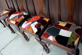 Crazy Quilt Dining Room Chairs : Blog a la Cart & Reupholstering ... Adamdwight.com