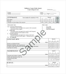 Printable Progress Reports For Elementary Students Free Printable Report Card Template