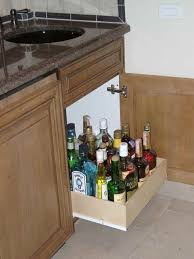 ... LIQUOR CABINET BAR BOTTLE STORAGE ROLL OUT SLIDE OUT SLIDING SHELF  ORGANIZE liquor cabinet bar bottle ...