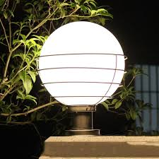 2018 outdoor lighting ball column light outdoor pillar outdoor garden lamp post white transpa acryl ball e27 bulb wcs ocl0020 from wecus technology