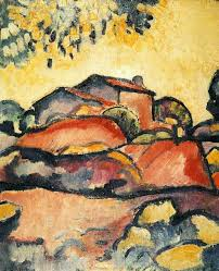 braque adopted a fauvist style as above characterized by vibrant color along with pablo picasso he later developed the art style known as