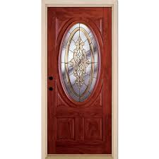 home depot front doorsFeather River Doors 375 in x 81625 in Silverdale Brass 34