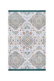 image of nuloom flatweave cotton lina mosaic tassel rug lilac