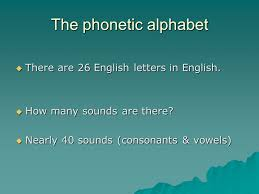 The phonetic alphabet is the list of symbols or codes that shows what a speech sound or letter sounds like in english. Phonetics Class 1 Chapter The Phonetic Alphabet There Are 26 English Letters In English How Many Sounds Are There Nearly 40 Sounds Consonants Ppt Download