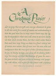 New York Life Insurance Quotes Custom 48 New York Life Insurance Christmas Prayer Print Ad Christmas