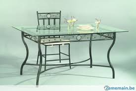 Table fer forgé & verre - A vendre | 2ememain.be