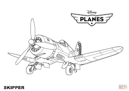Small Picture Disney Planes Skipper coloring page Free Printable Coloring Pages