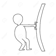 closed door drawing. Hand-drawn Man Opens A Closed Door Stock Photo - 19024925 Drawing