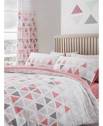 geo triangle double duvet cover and
