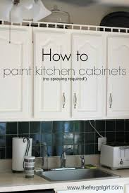 Average Cost To Paint Kitchen Cabinets Enchanting How To Paint Kitchen Cabinets The Frugal Girl