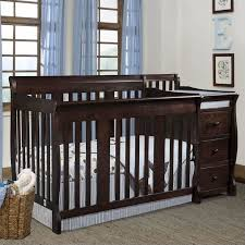 4 in 1 crib changer combo in espresso