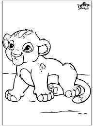 Baby Leeuwtje Kleurplaten Katachtigen