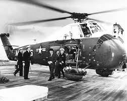 Image result for Dwight D. Eisenhower leaving WH at the retirement by hi helicopter