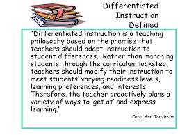 Ppt Differentiating Instruction Beginning The Journey