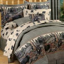 lodge queen bedding rustic linen lodge comforter cream bedding sets panda bed set