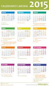 Calendarios Para Imprimir 2015 El Calendario Laboral 2015 Se Publica Con Una Fiesta