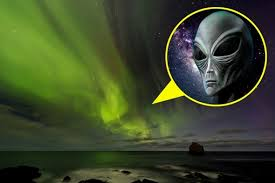 northern lights from space. is that a creature from outer space in iceland\u0027s northern lights? - aol uk travel lights