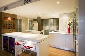 Kitchen Floor Lighting Contemporary Kitchen Natural Lighting White Island White Granite