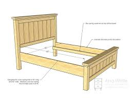 building a full size bed frame free outdoor woodworking plans full size bed frame bed frame