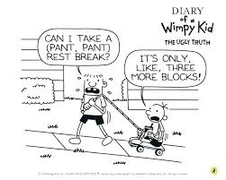 Free Printable Diary Of A Wimpy Kid Coloring Pages Colouring Do It