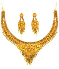 anjali jewellers gold wedding collection. anjali jewellers golden traditional necklace set gold wedding collection