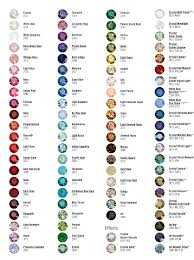 Swarovski 2010 Color Chart Swrovski Rhinestones Lamour