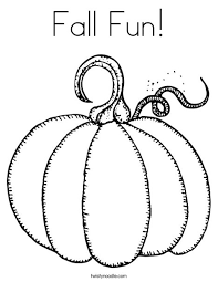 Small Picture Fall Fun Coloring Page Twisty Noodle