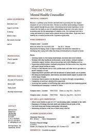 Comely Mental Health Social Worker Job Description Cover Letter