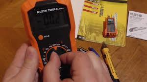 unboxing klein tools electrical test kit 69149