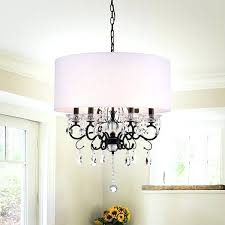 chandelier with lamp shade warehouse of oiled rubbed bronze crystal metal 6 light clip on